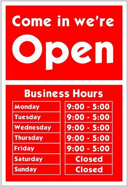 Business Hours Sign Template Elegant E In We Re Open Free Vector In Open Office Drawing Svg Business Hours Sign Brochure Template Sign Templates