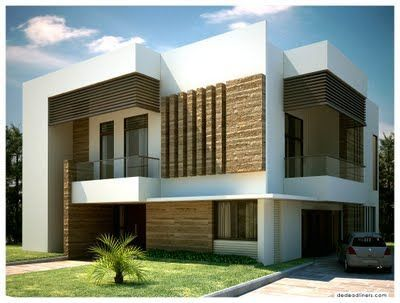 White Modern Houses brown and white exteriour painted kerala homes - google search