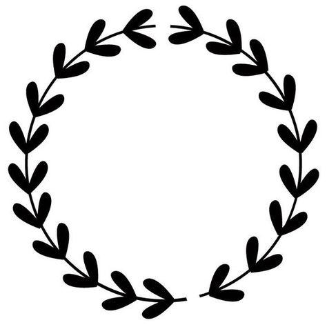 Cricut Monogram, Cricut Fonts, Laurel Wreath, Fall Clip Art, Wreath Drawing, Art Drawings For Kids, Diy Keychain, Stencil Patterns, Flower Doodles