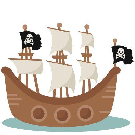 Pirate Ship Svg Scrapbook Cut File Cute Clipart Clip Art Files For Silhouette Cricut Pazzles Free Svgs Free Svg Cuts Cute Cut Files Piratas Party Pirates