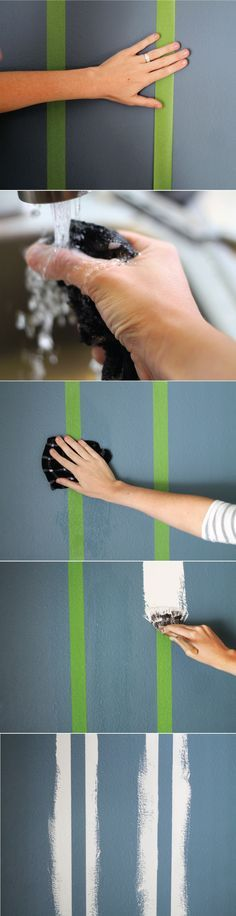 """Not a fan of taping, but good info here on how to make Frog Tape actually work in getting the """"crispest paint lines ever"""""""