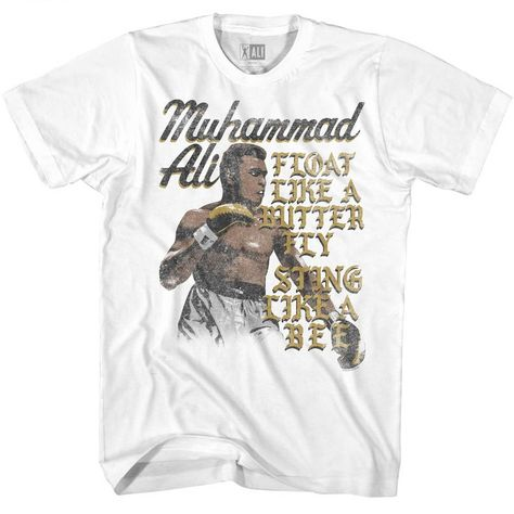 Muhammad Ali Boxing Champ Butterflies Floating Adult T Shirt