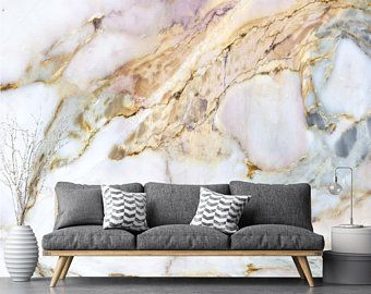 Rosa Lila Gold Marmor Tapete Wand Aufkleber Dekor Decke Wand Wand
