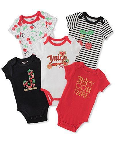 Juicy Couture Baby Girls 5 Pack Bodysuits Juicy Couture Baby Baby Couture One Piece Clothing