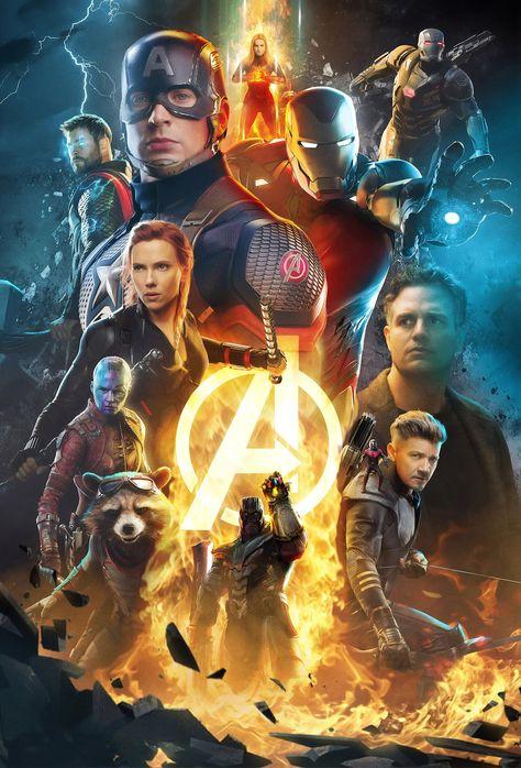 Avengers: End Game, Marvel Universe, Movie Poster Wall Art Home Decor Superhero Print