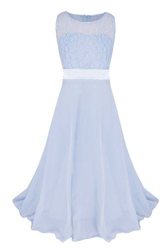 Amazon.com: YiZYiF Girls Kids Floral Lace Maxi Long Pageant Wedding ...