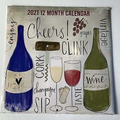 2021 Wine Quotes 12 Month 12x11 Wall Calendar New Sealed Wine Country Wine Country Wine Quotes Wall Calendar