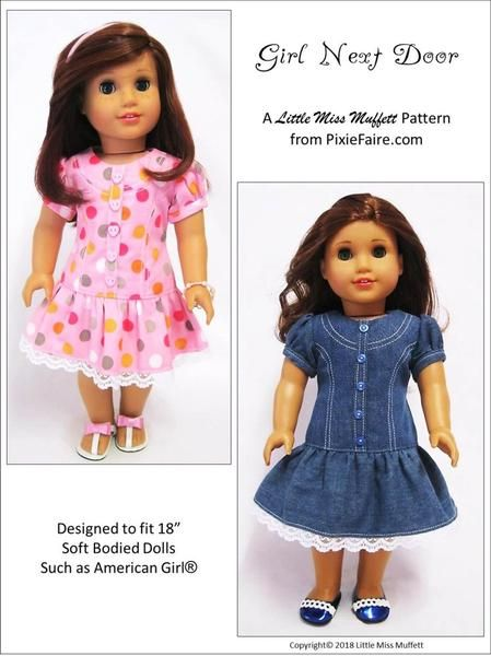0436 Summer Dresses fit 18 inch American Girl New Pattern 1220