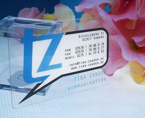 Visitenkarten Pvc Plastik Sprechblase Ideen Kreativ