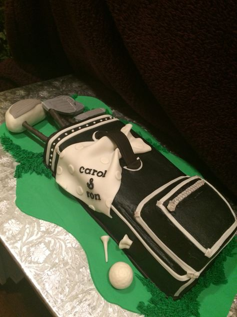 Our good neighbors are big-time golfers....hope Carol & Ron enjoy their Black Forest Golf Bag Cake!!!!!