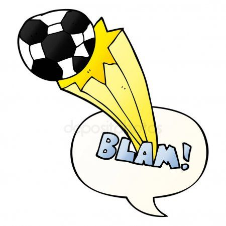 Cartoon Kicked Soccer Ball And Speech Bubble In Smooth Gradient Stock V Ad Soccer Ball Cartoon Speech Bubble Graphic Design Layouts Free Cartoons