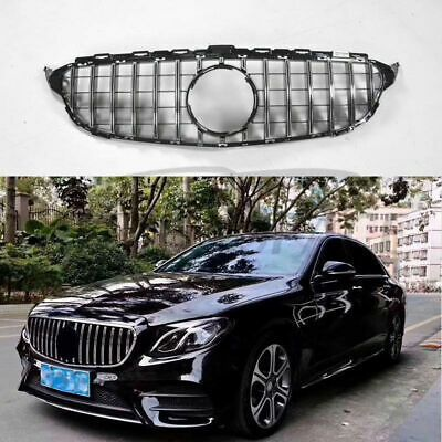 For Camera GT Panamericana Grill for Mercedes C W205 C250 C43 AMG 2015-18 Black