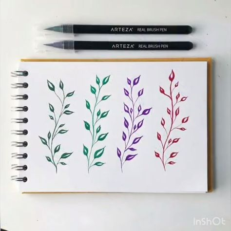 """This soothing video is a perfect illustration of how seamlessly a little pressure can transform your lines and your art. One Real Brush Pen = different lines for all of your paintings, drawings, journals or calligraphy.  Artis credit: @artbytansie"""