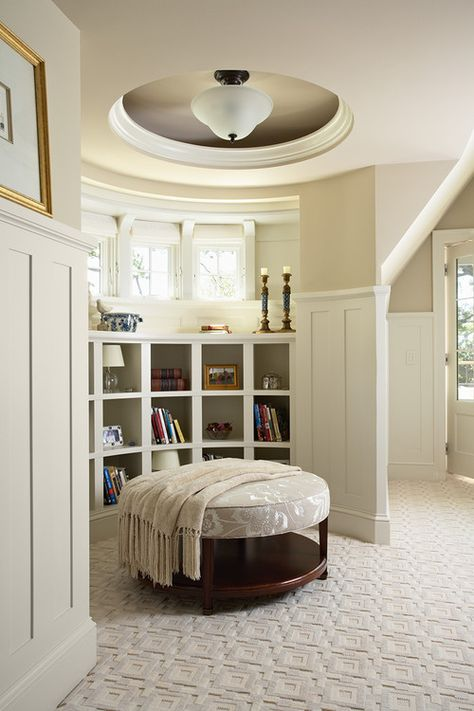 Master bedroom reading nook. Billy Beson Company.  Ceiling.
