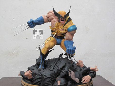 1 4 Scale X Men Wolverine Vs Ninja Statue Custom Made Marvel Statues X Men Wolverine