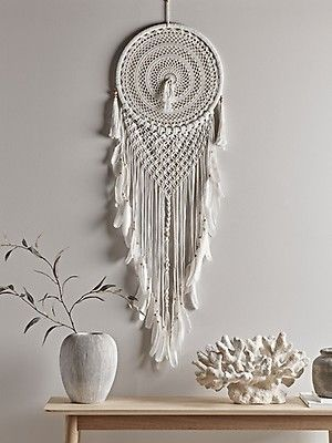 Handwoven Laundry Basket Large Wall Hanging Dream Catcher