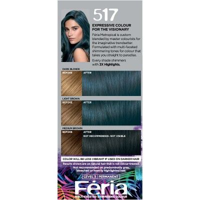L Oreal Paris Feria Multi Faceted Shimmering Permanent Hair