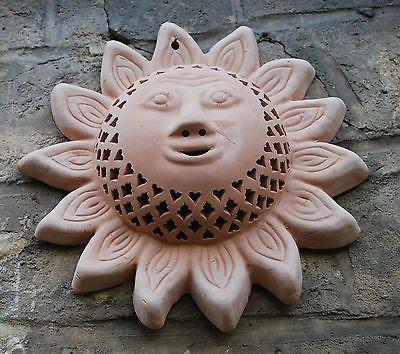 Laterne aus Terrakotta//Terracotta Innenraum /& Garten Windlicht S Handarbeit