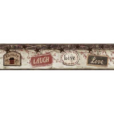 "Countryside Kinsey Live Laugh Love 15' x 5.6"" 3D Embossed"