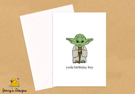 Star wars birthday card printable yoda birthday card funny star wars birthday card printable yoda birthday card funny birthday card instant download on etsy 200 paper crafts pinterest star wars bookmarktalkfo Choice Image