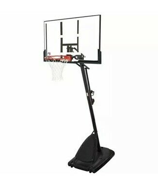 Spalding Nba 54 Portable Angled Basketball Hoop With Polycarbonate Backboard In 2020 Basketball Hoop Spalding Indoor Basketball Hoop