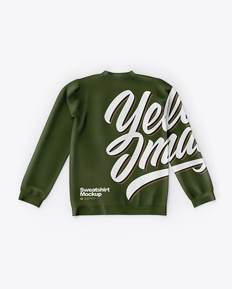 Download Sweatshirt Mockup In Apparel Mockups On Yellow Images Object Mockups Clothing Mockup Sweatshirts Design Mockup Free