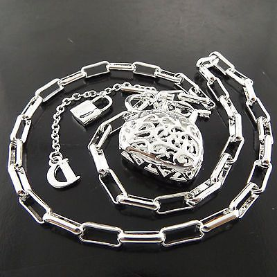 Necklace Chain Real 925 Sterling Silver S//F Solid Antique Filigree Link Design