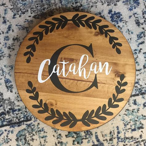 Personalized Wooden Lazy Susan Baby Stuff