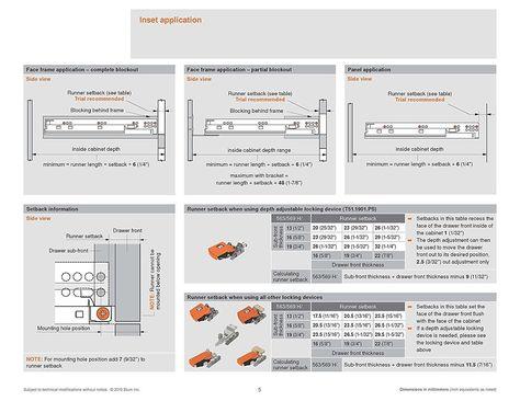 Blum Tandem Plus Blumotion Drawer Slides Complete Kit Tandem