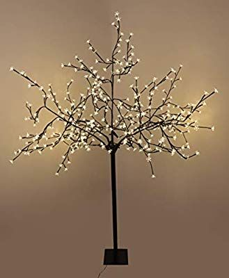 Christmas Concepts 2m 6 6ft Outdoor Led Blossom Tree With 400 Warm White Low Voltage Led Lights Energy Clas Low Voltage Led Lighting Blossom Trees Led Lights