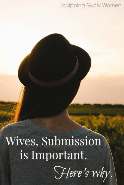Think listening to your husband is optional? If you're a Christian wife--it's not. Submission is important, and not for the reason you think.