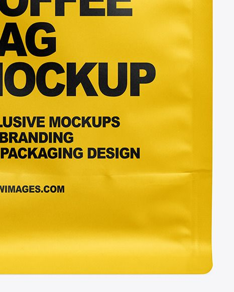 Download Matte Coffee Bag Mockup Present Your Design On This Mockup Includes Special Layers And Smart Objects For Your Creative Wo Bag Mockup Coffee Bag Tea Packaging