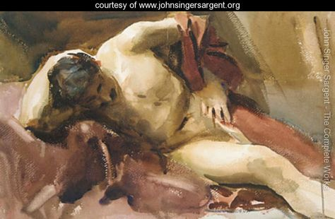 John Singer Sargent, Italian Model, graphite and watercolour on paper, Metropolitan Museum of Art, New York