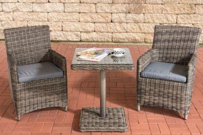 Clp Garten Sitzgruppe Palermo Aus Polyrattan Robuste Gartengarnitur Mit Aluminiumgestell Garten Set Bestehend Aus 2 Stuhlen U Gartenmobel Sitzgruppe Aussenmobel