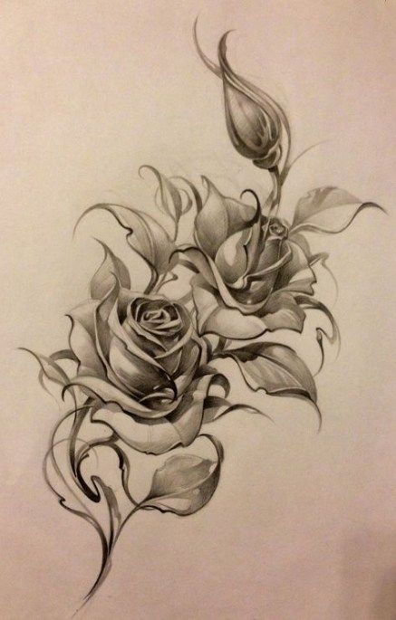 39+ New Ideas tattoo designs rose thighs