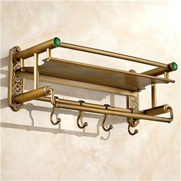 Handtuchhalter Mit Hakenleiste Antik Messing Wandmontage Im Badezimmer Badezimmer Regal Handtuchhalter Handtuchhalter Ideen