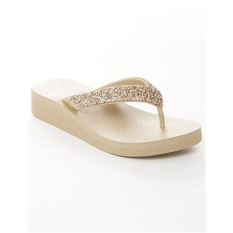 1eaf42cead019f Lane Bryant Bling wedge flip flop ( 15) ❤ liked on Polyvore featuring  shoes