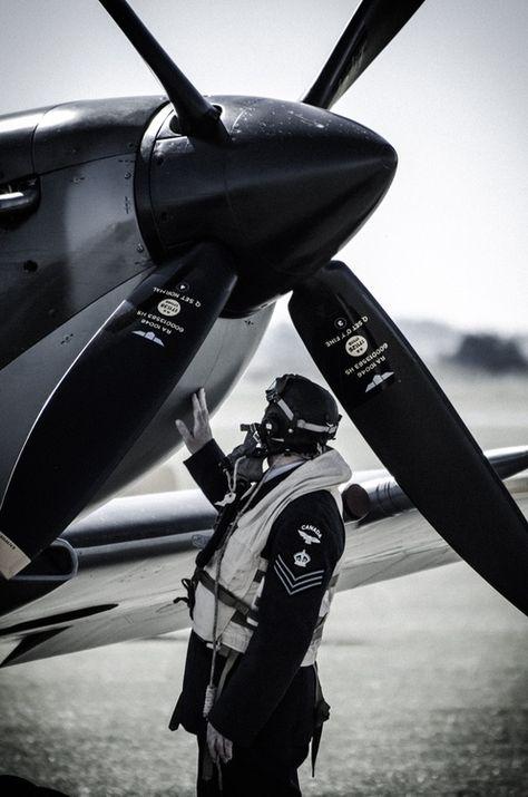 Spitfire and pilot, just beautiful... ;-)