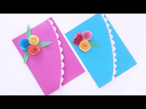 مطوية جميلة و سهلة How To Make Beautiful Card Diy Youtube Diy Cards Make It Yourself Diy
