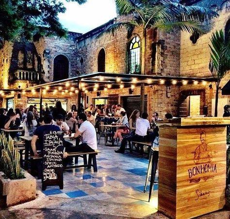 Manteles A Cuadros Bonhomia Para La Previa Restaurante Bar Patio De Restaurante Restaurante Terraza