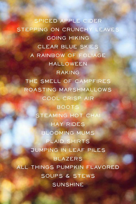 fall love list