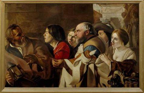 Diogenes Op De Markt Van Athene 1628 Jacob Van Campen