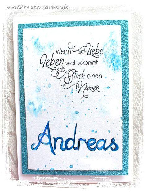 Wenn Aus Liebe Leben Wird Bekommt Das Gluck Einen Namen Karte Geburt Geburtstagskarte Karten Basteln