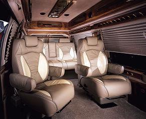 Luxury Conversion Van Limo Shuttle Hightop Interior