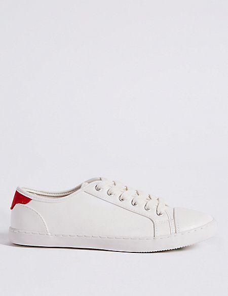 M\u0026S | Lace up trainers, Lace up, Vans