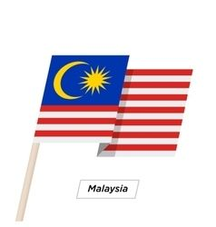 Malaysia Ribbon Waving Flag Isolated On White Vector Vector Free