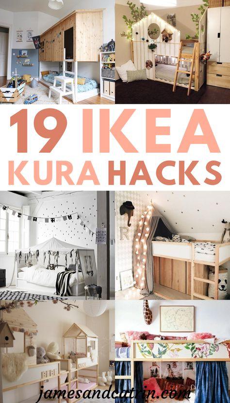 19 Ikea Kura Bed Hacks your Kids will Love | Ikea furniture