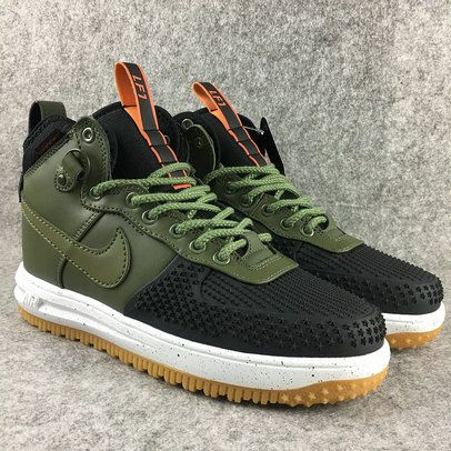 Size 9.5 Nike Lunar Force 1 Duckboot Olive Shoe Review and