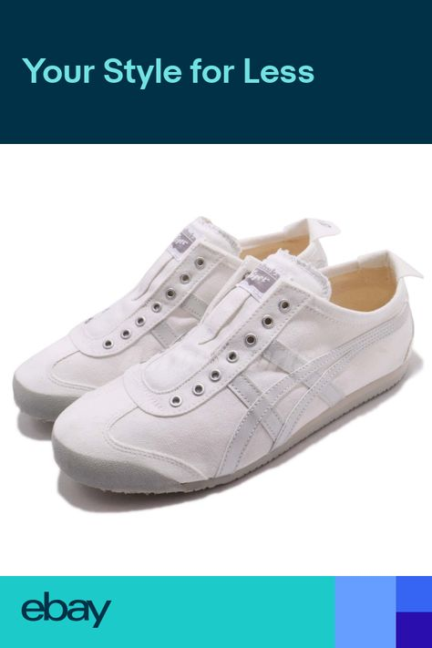 new concept 7688d cf6bb Asics Onitsuka Tiger Mexico 66 White Silver Men Slip On Shoes Sneaker  D528Q-0193