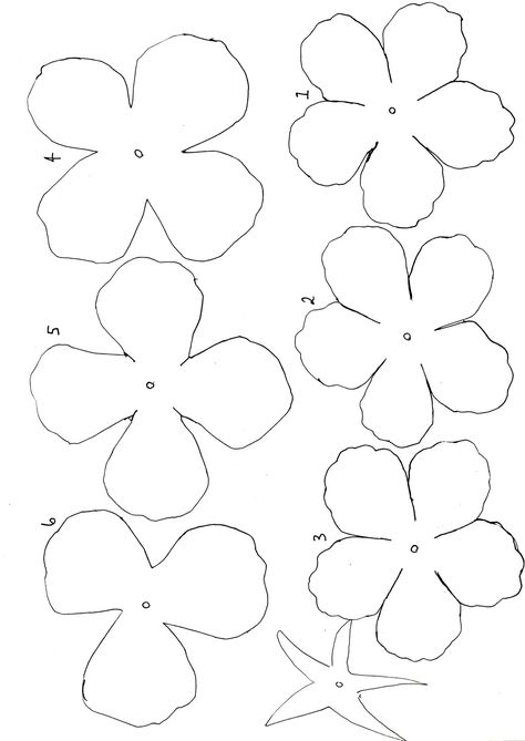 i have been making paper roses for a while but i have always - flower template